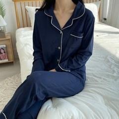 포근포근 순면 잠옷 파자마 세트 (2color)