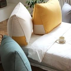 시그니처 면 100% 삼각 허리 등받이 소파 침대 쿠션 - 4color