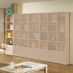 [에띠안]베이직 삼나무 24T 5단 350 도어 책장