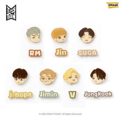 BTS 타이니탄 다이너마이트 메탈 핀 뱃지 모음 7종