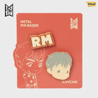 BTS 타이니탄 다이너마이트 메탈 핀 뱃지 알엠 RM