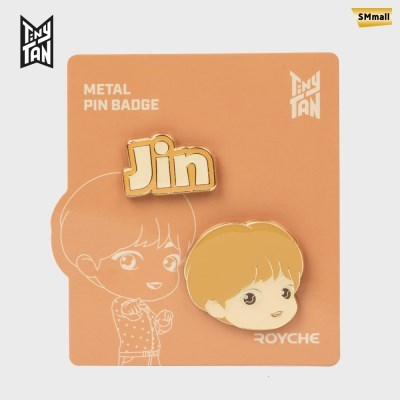 BTS 타이니탄 다이너마이트 메탈 핀 뱃지 진 JIN