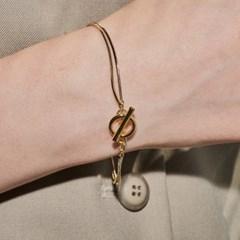 snake toggle layered bracelet