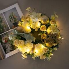 LED 옐로우파스텔알륨리스 250mmP 크리스마스 TRWGHM