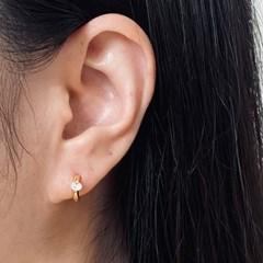 실버925 큐빅 원터치 귀걸이