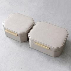 인조가죽 사각 보석함 (대)-2color