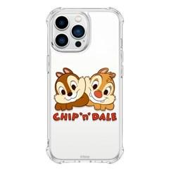 (방탄케이스) 디즈니 칩앤데일 옹기종기 아이폰13 Mini Pro Max