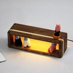 [리인목공소] LED 무드등 짜맞춤 미니쉘프 무료각인