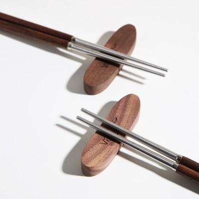 벨류세라믹 디니스 월넛 원목손잡이 젓가락 1p