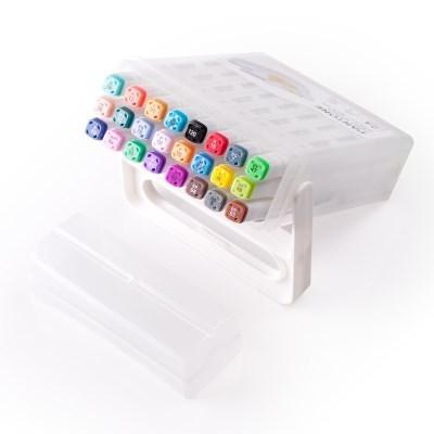 팬톤 듀얼팁 패브릭 마카 24색 세트_직물마카 디자인 싸인펜 미술용