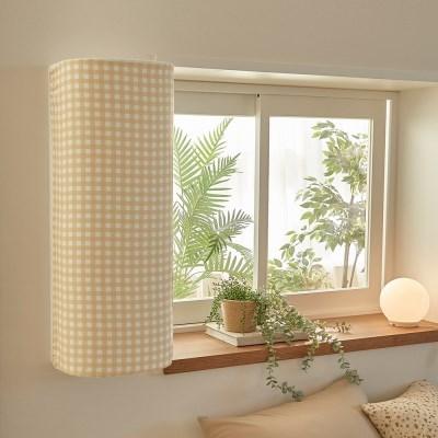 창문형 에어컨커버 캔디체크 3colors (파세코형/삼성형)