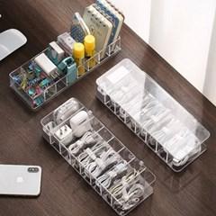 투명 아크릴 케이블 어댑터 USB 선 정리함