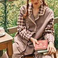 [울랄라파자마] 앤의 설레임 긴팔 여성페어 바이올렛
