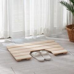 원목 변기앞매트 (홈) 편백나무 화장실 히노끼 욕실 발받침 발판
