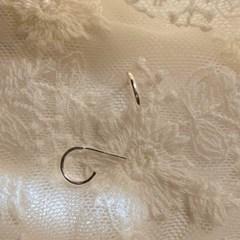 [봄밤달] 베이직 실버 링귀걸이 (silver 925)