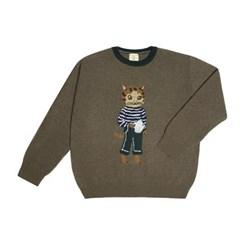 NAT cashmere pullover teapot cat