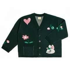NAT cashmere cardigan cherry bunny