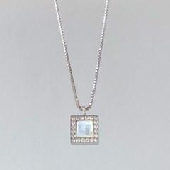 925 silver 천연자개 프레임 네크리스