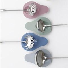 아보카도 파스텔 실리콘 조리기 받침-4color