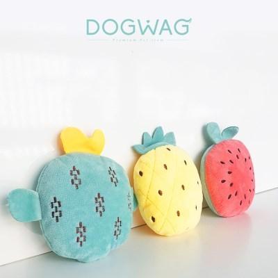 도그웨그 바스락 과일 장난감 강아지 인형 이갈이