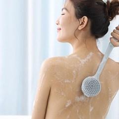 미니플 에이블 듀오 실리콘 등 바디 등때밀이 솔 샤워 목욕 브러쉬
