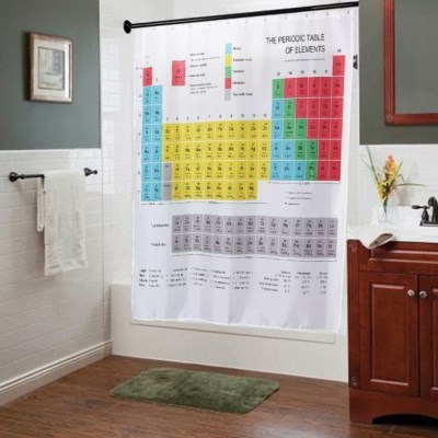 화학 원소기호 욕실 화장실 샤워 커튼 커텐