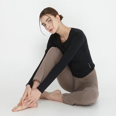 여성 요가복 DEVI-T0070-블랙 노르딕 원스 티셔츠
