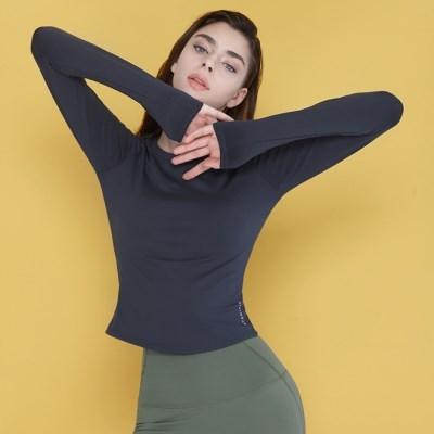 여성 요가복 DEVI-T0070-에쉬네이비 노르딕 원스 티셔츠