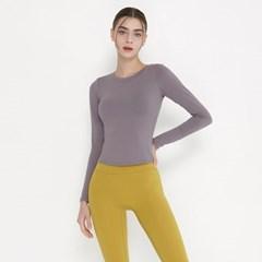여성 요가복 DEVI-T0070-에쉬퍼플 노르딕 원스 티셔츠