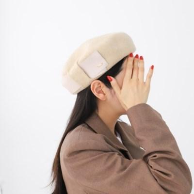 울 기본 아이보리 심플 데일리 패션 베레모 모자