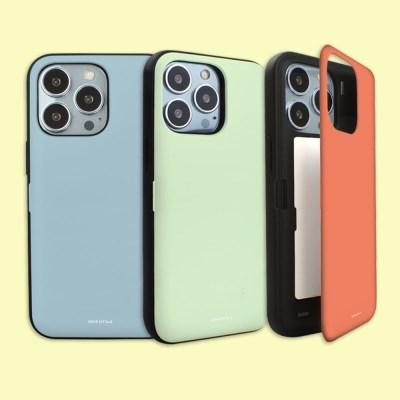 나인어클락 아이폰 13 시리즈 컬러 카드수납 자석 도어 범퍼 케이스