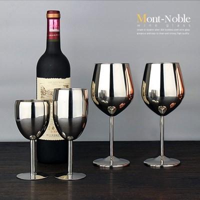 몽트노블 스테인레스 무광 유광 와인잔 감성 캠핑용품