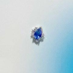 [봄밤달] 푸른 행성 써지컬 피어싱 (귀걸이침 변경가능)