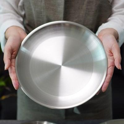 포스코 스텐 무광 접시 25cm