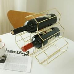 골드 와인렉 와인랙 와인 3단거치대 보관 수납 진열 선반 2color