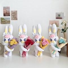 [리본문구추가] 꽃 배달부 리코 인형꽃다발 인형화환 선물세트