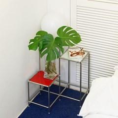 모듈 프레임 3단 유리 침대 협탁 30/012 (유리 색상 선택)