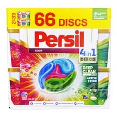 퍼실 4in1 캡슐 세탁 세제 디스크 칼라젤 66개입