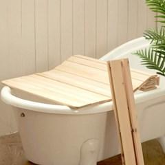 편백나무 반신욕덮개 750x1000 욕조 판 받침대 테이블 거치대