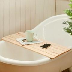 반신욕 테이블750x310 욕조트레이 판 히노끼 원목 편백나무 책상