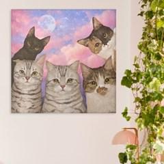 위모던 임듀이 일러스트 그림 고양이 인테리어 액자 캔버스 아트