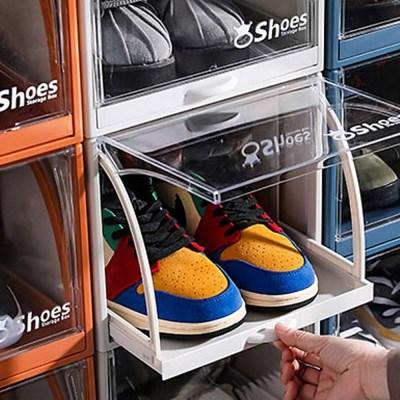 신발 정리함 슈즈박스 슬라이딩 다용도 케이스 신발장 EM009