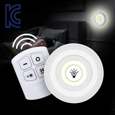 [KC인증] 터치등 리모콘 원형 LED 무드등 3P DD-10012