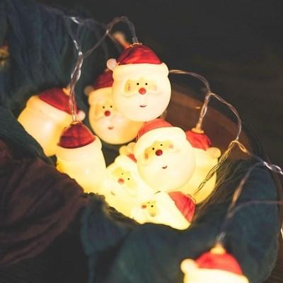 산타 가랜드 전구 트리 장식 조명