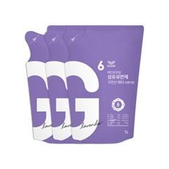 섬유유연제 구연산 워터 1L 리필x3 라벤더향