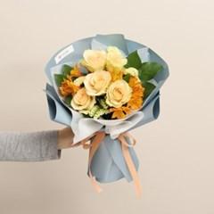 키위 장미와 알스트로메리아 꽃다발 (생화, 전국택배)