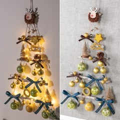 LED 디어라떼벽걸이우드트리 65cmP 크리스마스 TRHMES