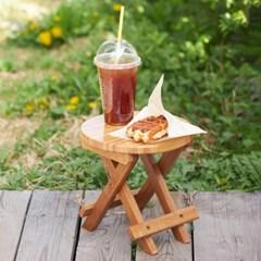 접이식 대나무 휴대용 의자(원형)