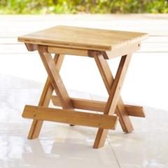 접이식 대나무 휴대용 의자(사각)