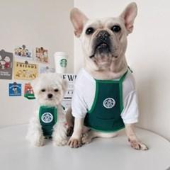 고양이 강아지 멍타벅스 종업원 앞치마 티셔츠 옷